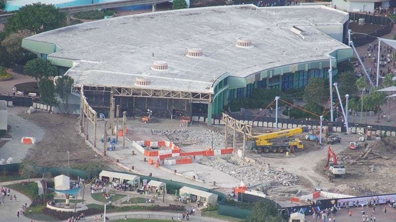 Epcot Future World Construction Updates January 2020 invention almost done