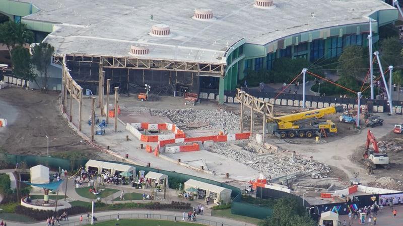 Epcot Future World Construction Updates January 2020 Innoventions demo sunken floor basement