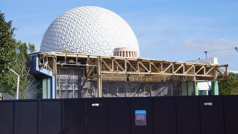Epcot Future World Construction Updates January 2020 Innoventions demo to Breezeway