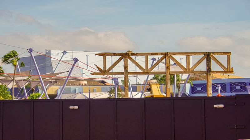 Epcot Future World Construction Updates January 2020 last steel frame