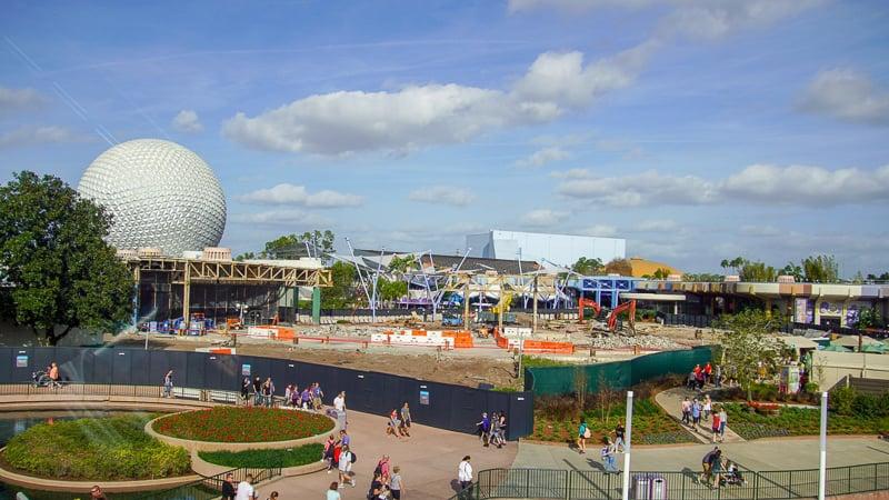 Epcot Future World Construction Updates January 2020 new structure land