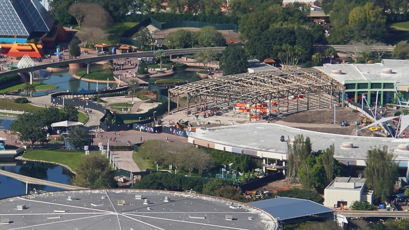 Innoventions Aerial 2 Epcot Future World Construction Updates January 2020