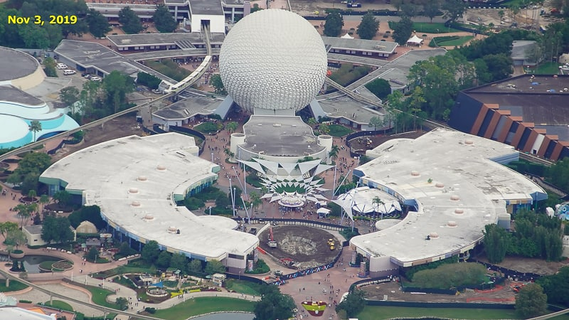 Epcot Future World Construction Updates January 2020 Innoventions West Demolition Timeline Nov 3
