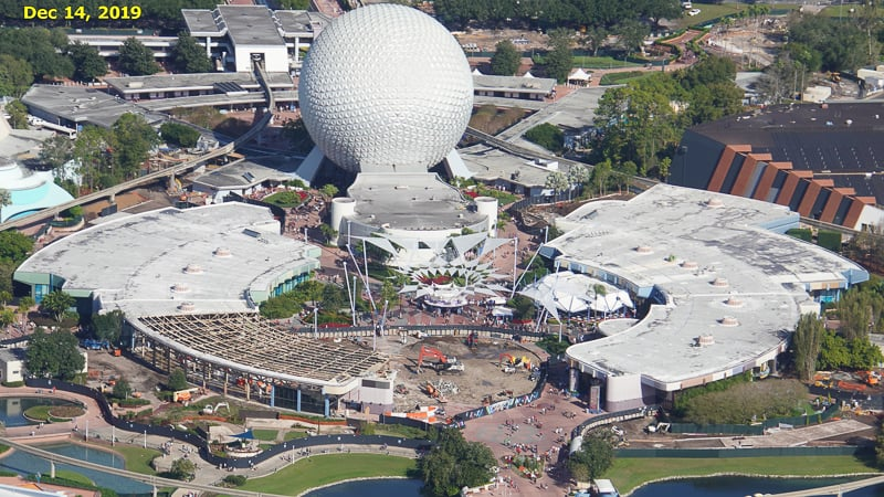 Epcot Future World Construction Updates January 2020 Innoventions West Demolition Timeline Dec 14
