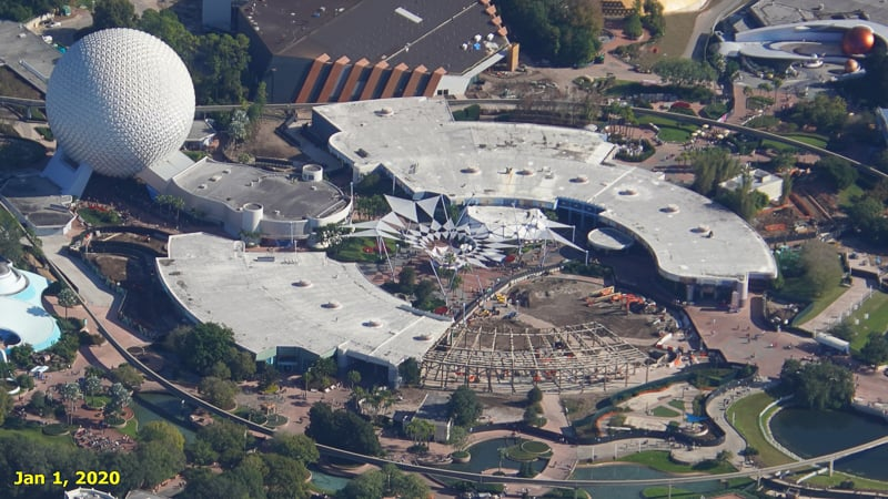 Epcot Future World Construction Updates January 2020 Innoventions West Demolition Timeline Jan 1