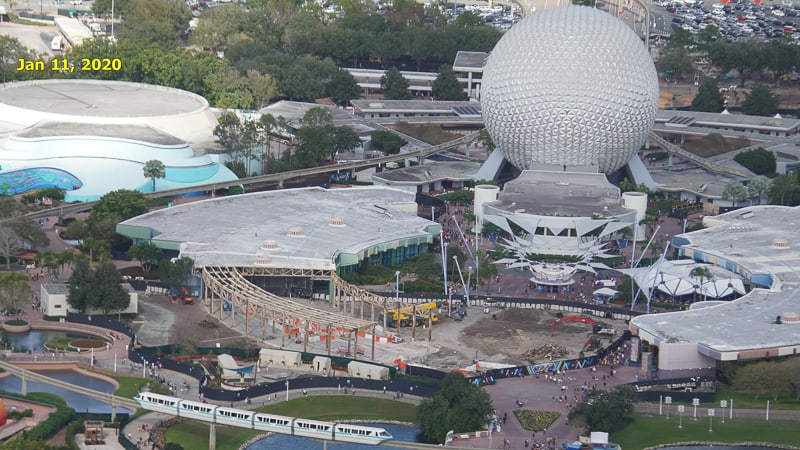 Epcot Future World Construction Updates January 2020 Innoventions West Demolition Timeline Jan 11