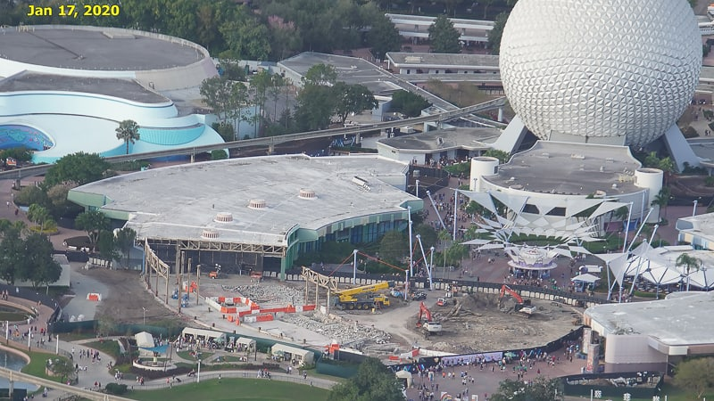 Epcot Future World Construction Updates January 2020 Innoventions West Demolition Timeline Jan 17