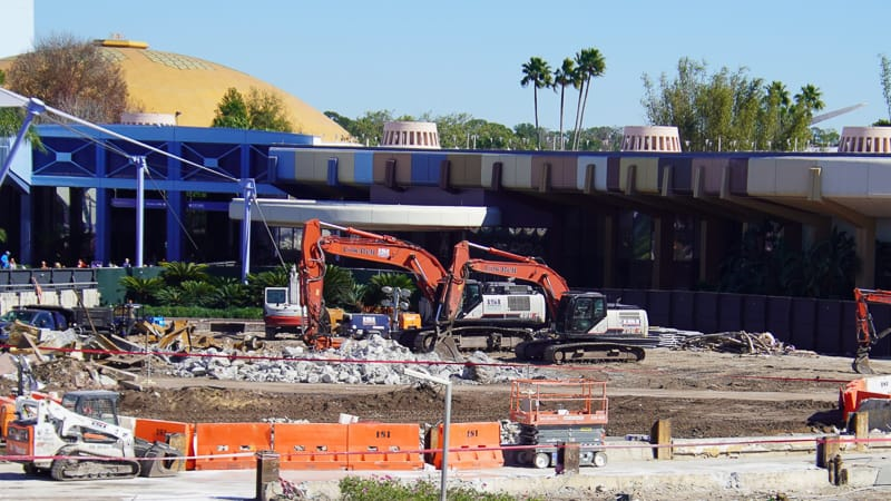 Epcot Future World Construction Updates January 2020 demolition