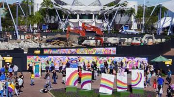 Epcot Future World Construction Updates January 2020 walkway