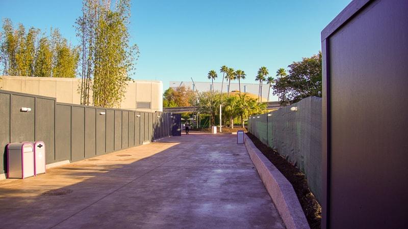Epcot Future World Construction Updates January 2020 East Side walkway