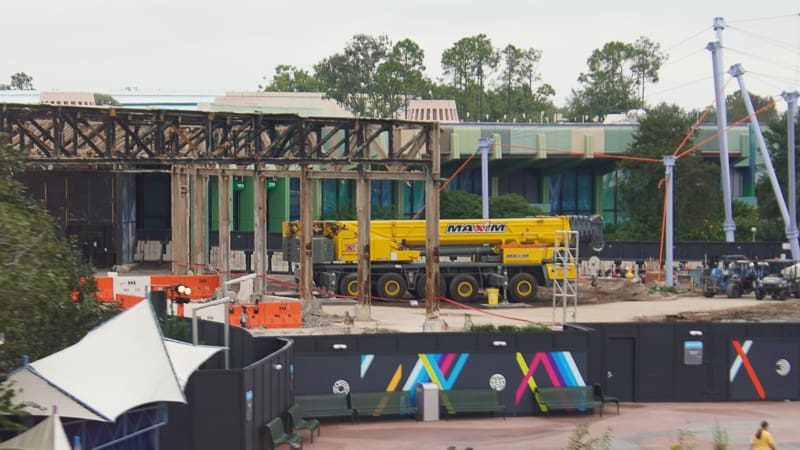 Epcot Future World Construction Updates January 2020 demo at Innoventions