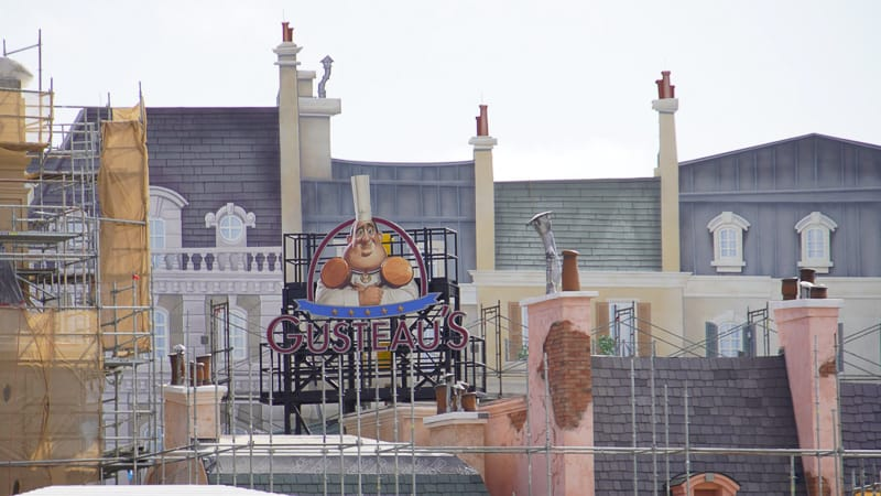 new Gusteau's restaurant sign France pavilion construction update January 2020