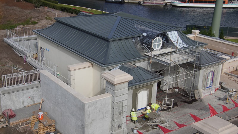 new restroom France pavilion construction update January 2020