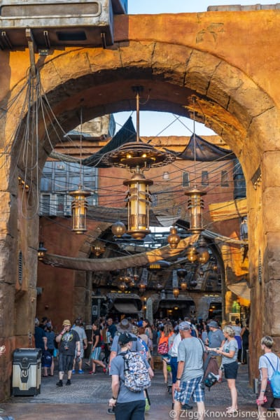 Outside the marketplace in Galaxy's Edge