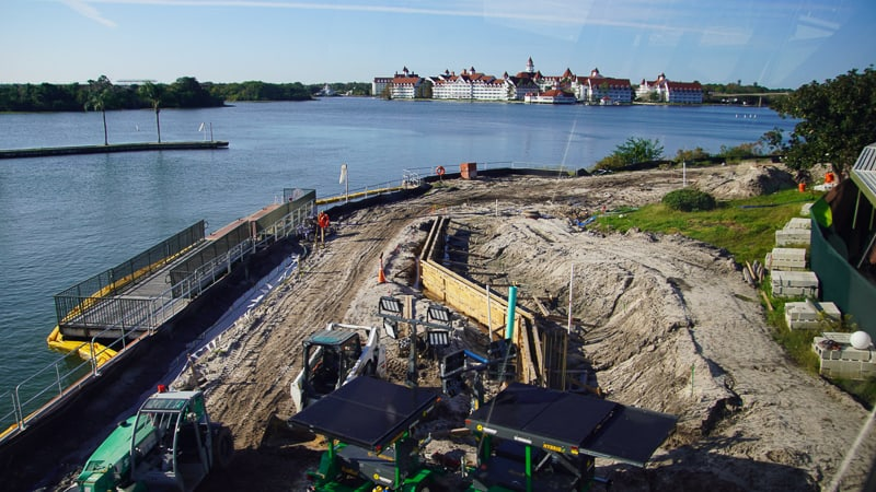 looking at Grand Floridian Walkway Construction Update January 2020 near Magic Kingdom