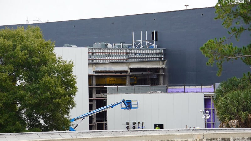 Guardians of the Galaxy coaster Construction Update January 2020 look through the back