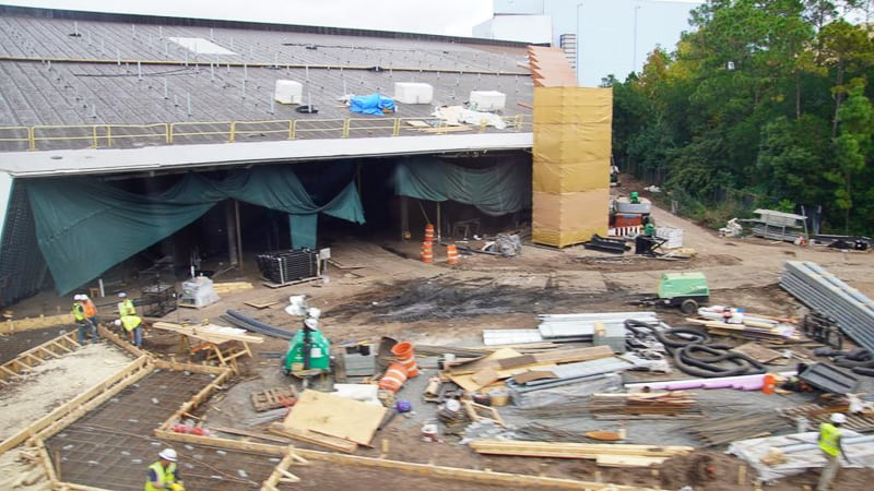 Guardians of the Galaxy Coaster Construction Update January 2020 front entrance