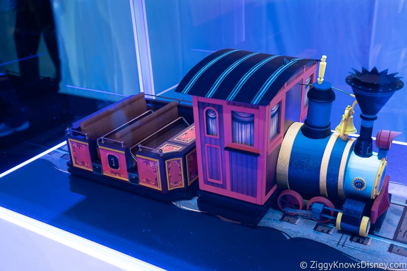 Mickey and Minnie's Runaway Railway Ride Vehicle side