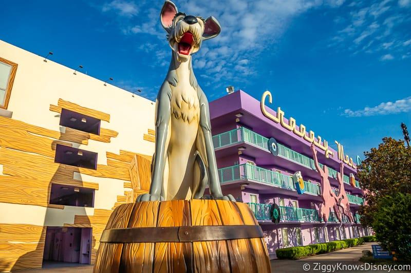 Tramp statue at Disney's Pop Century Resort