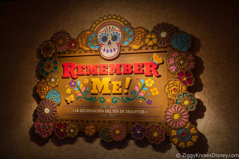 Remember Me display Mexico Epcot