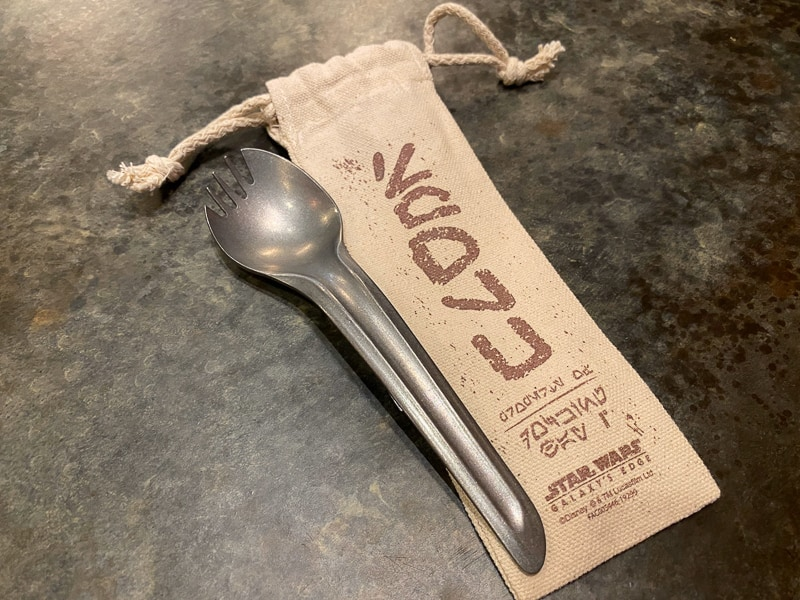 Sporks in Galaxy's Edge with a bag