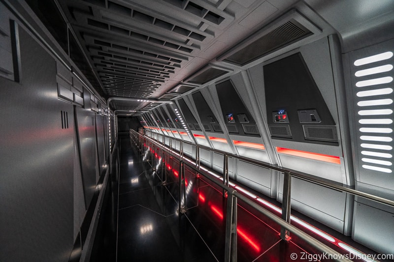 hallway of star destroyer Rise of the Resistance