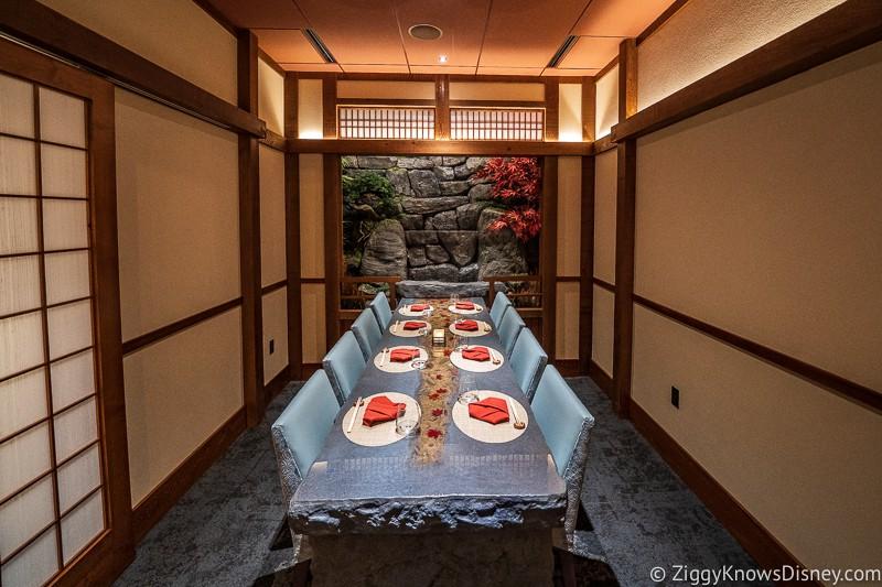 Takumi Tei private room in Epcot