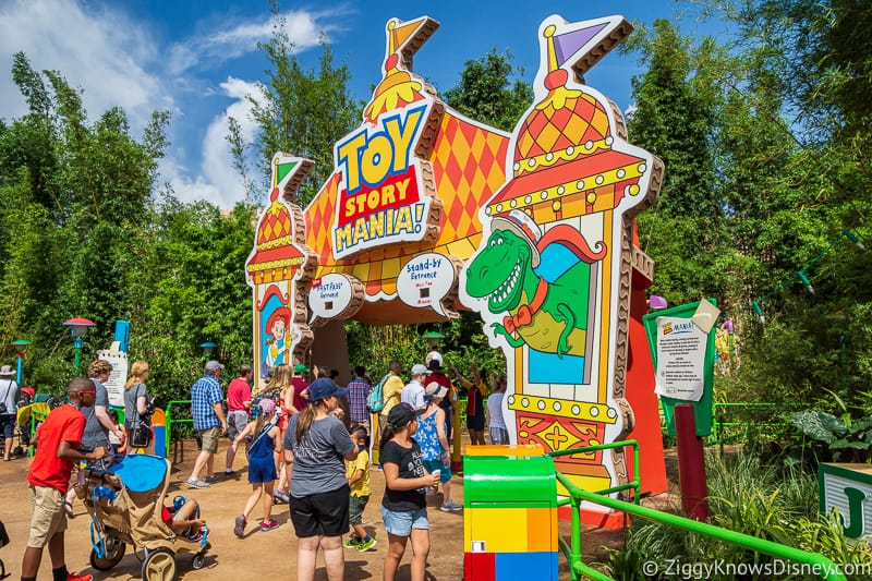 Toy Story Mania Entrance FastPass Tiers Hollywood Studios
