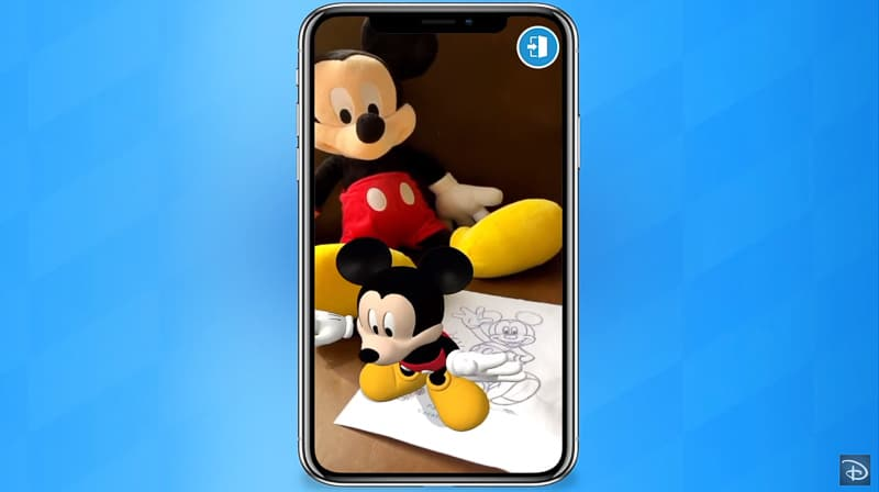 Augmented Reality Mickey Mouse Play Disney Parks app