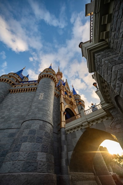 view through the gate of Cinderella Castle