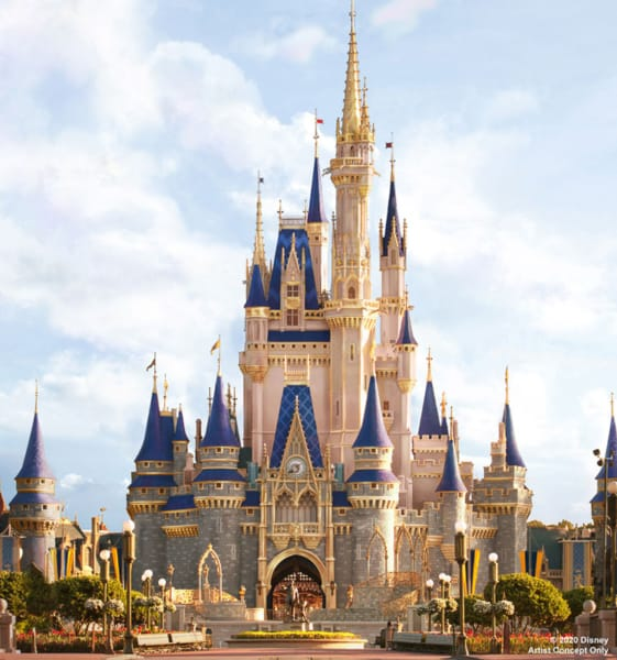 Cinderella Castle Disney's Magic Kingdom concept art 2