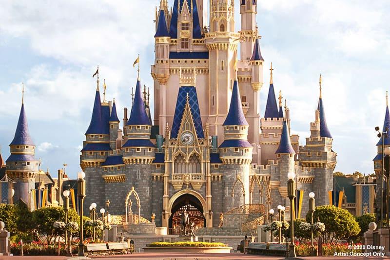 Cinderella Castle Refurbishment in Disney's Magic Kingdom