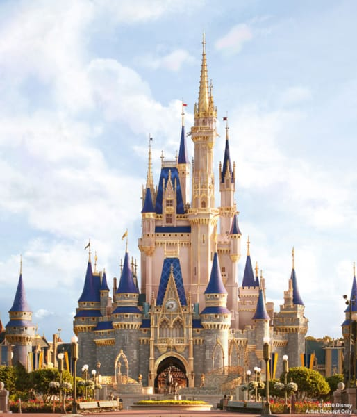 Cinderella Castle Disney's Magic Kingdom concept art