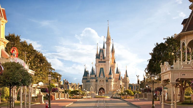 View of New Cinderella Castle after renovation in Disney's Magic Kingdom