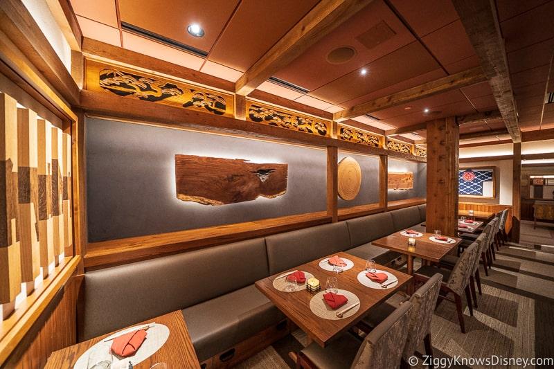 Disney Dining Plan Plus Takumi Tei interior