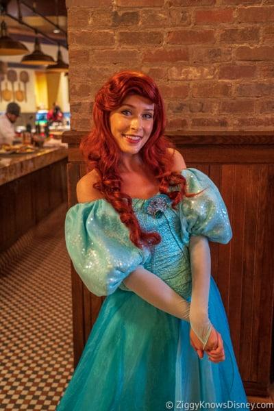 Disney Dining Plan Plus Breakfast Tattoria al Forno Ariel