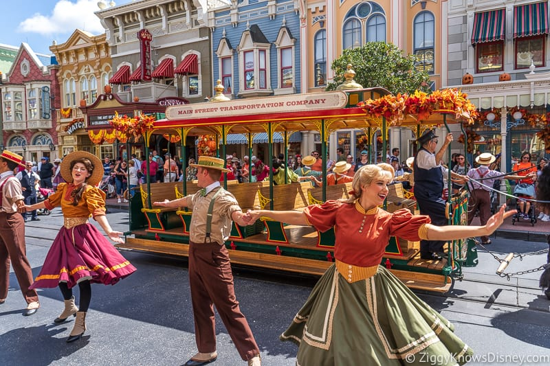 performers on Main Street USA in Magic Kingdom