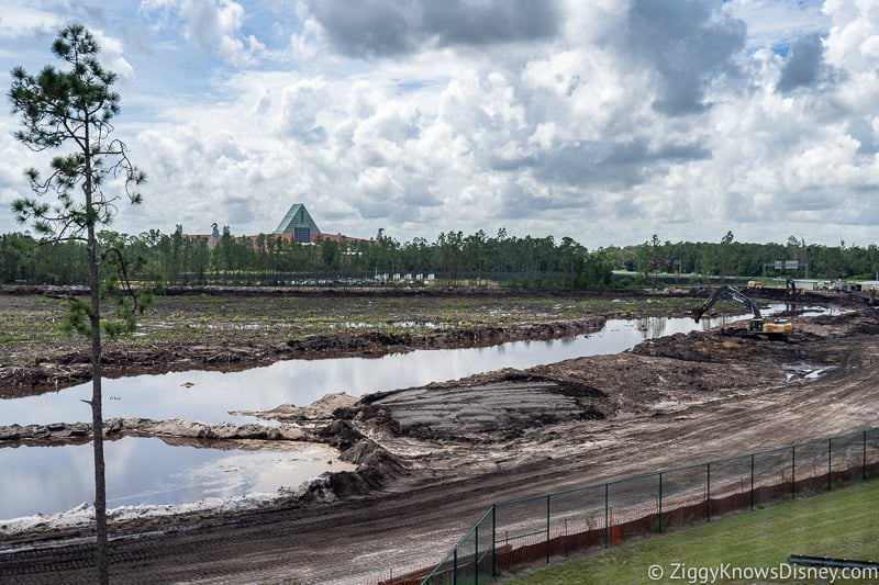 land under construction in Disney World
