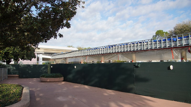 Epcot Entrance Construction Updates February 2020 new bag check on the east side