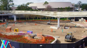 Epcot Entrance Construction Updates February 2020 plaza ready for paving