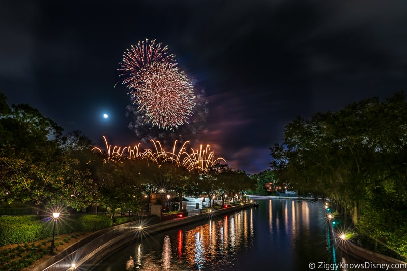 Testing fireworks at EPCOT