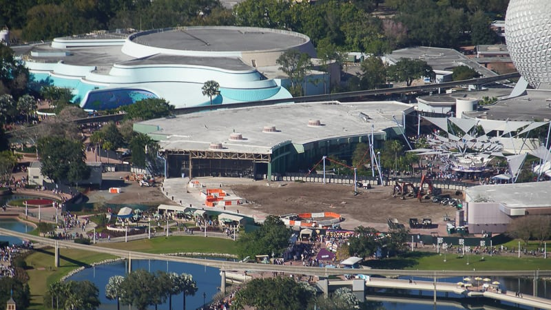 Epcot Future World Construction Updates February 2020 remaining part of Innoventions West