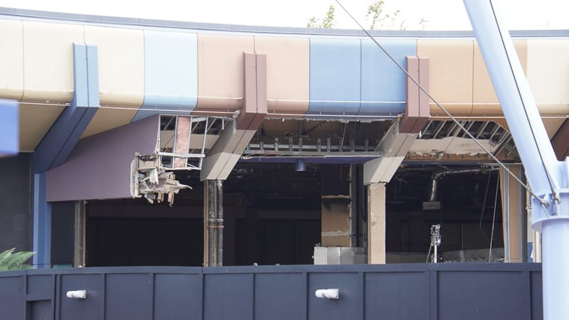 Epcot Future World Construction Updates February 2020 outside MouseGear