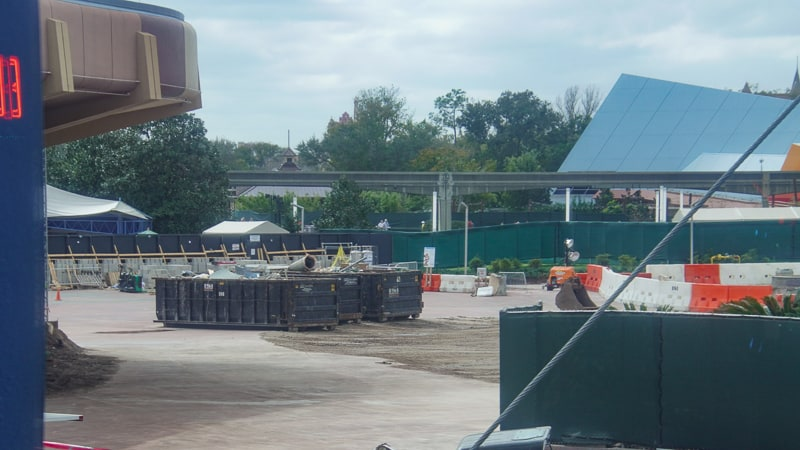 Epcot Future World Construction Updates February 2020 dumpsters