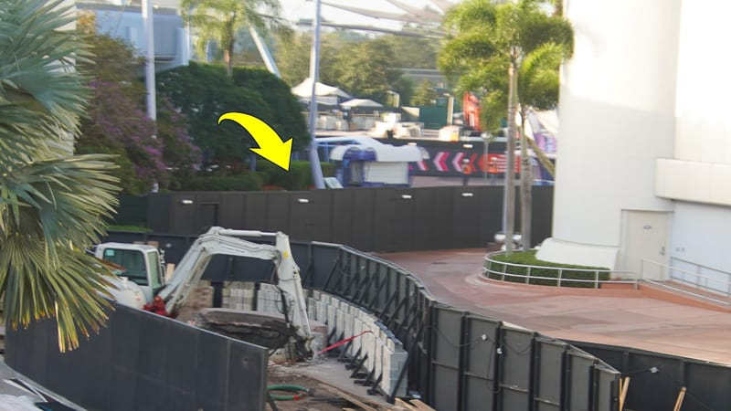 Epcot Future World Construction Updates February 2020 new wall 2