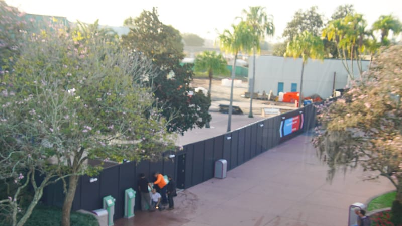Epcot Future World Construction Updates February 2020 wall up future world