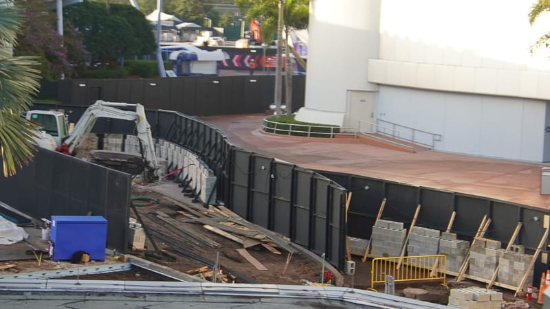 Epcot Future World Construction Updates February 2020 new walkway east
