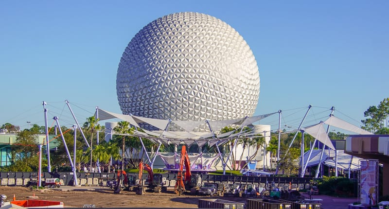 Epcot Future World Construction Updates February 2020 from the ground