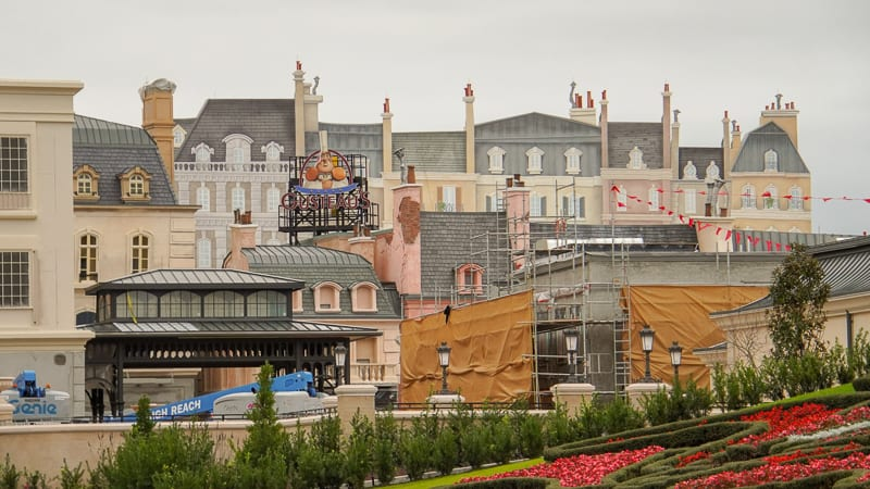 France pavilion construction update February 2020 building facades