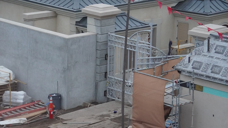 France pavilion construction update February 2020 backstage gate